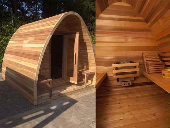 Sauna POD avec porche 244x244 cm