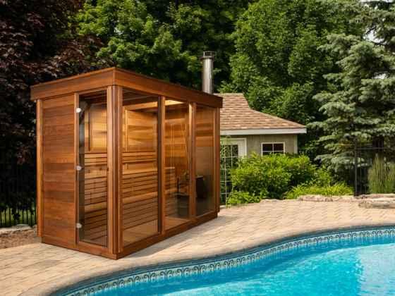 """Sauna extérieur Red Cedar """"Pure Cube"""""""