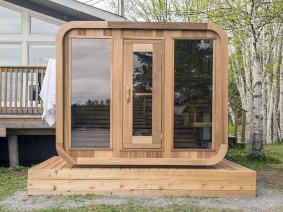 """Sauna Cube Red Cedar - """"Luna"""""""