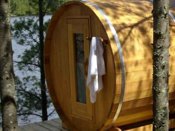 "Sauna Rond Red Cédar - ""Baril"" 214x214 cm"
