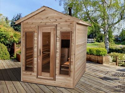 Fenêtre sauna nid aigle